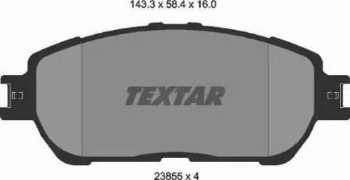Textar 2385501 - Piduriklotsi komplekt,ketaspidur multiparts.ee