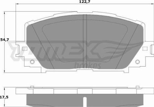 TOMEX brakes TX 16-10 - Piduriklotsi komplekt,ketaspidur multiparts.ee