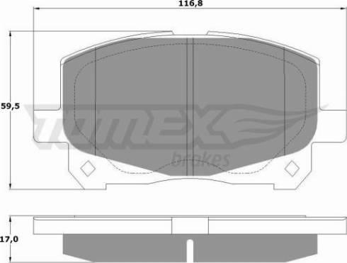 TOMEX brakes TX 16-11 - Piduriklotsi komplekt,ketaspidur multiparts.ee