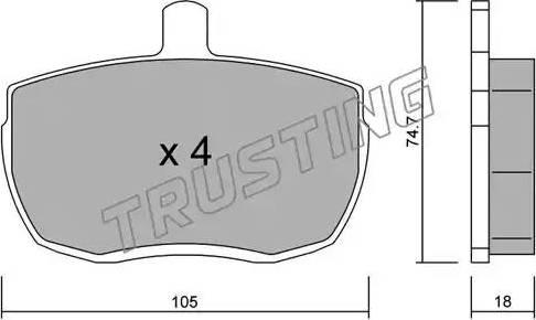Trusting 018.0 - Piduriklotsi komplekt,ketaspidur multiparts.ee