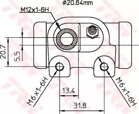 TRW BWF129 - Rattapidurisilinder multiparts.ee