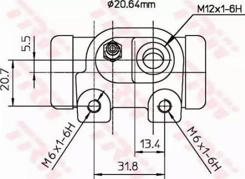 TRW BWF123 - Rattapidurisilinder multiparts.ee
