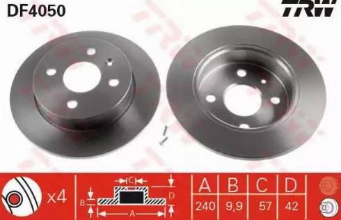 TRW DF4050 - Piduriketas multiparts.ee