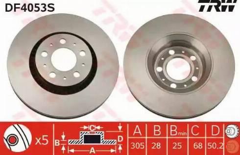 TRW DF4053S - Piduriketas multiparts.ee