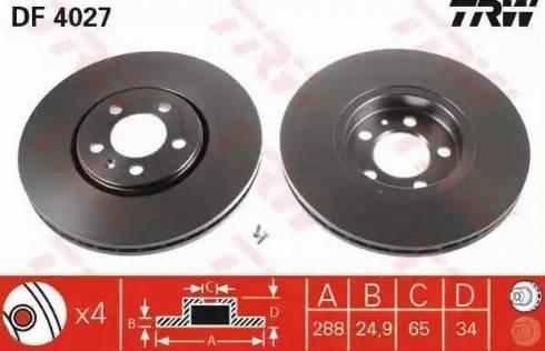 TRW DF4027 - Piduriketas multiparts.ee