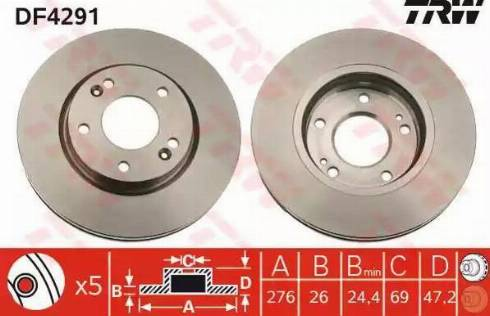 TRW DF4291 - Piduriketas multiparts.ee