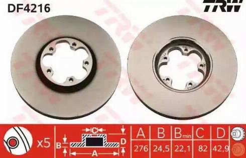 TRW DF4216 - Piduriketas multiparts.ee