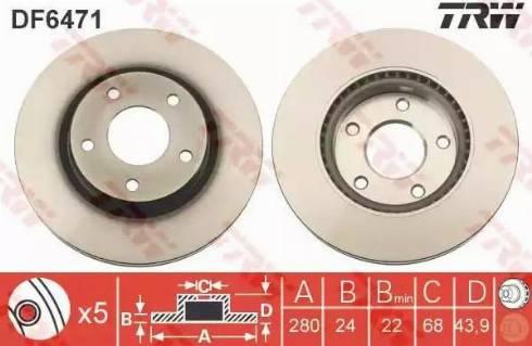 TRW DF6471 - Piduriketas multiparts.ee