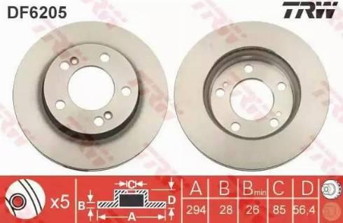 TRW DF6205 - Piduriketas multiparts.ee