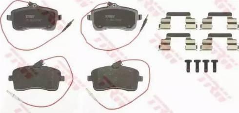 TRW GDB1594 - Piduriklotsi komplekt,ketaspidur multiparts.ee