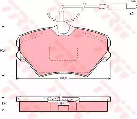 TRW GDB1087 - Piduriklotsi komplekt,ketaspidur multiparts.ee