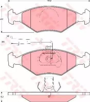 TRW GDB1393 - Piduriklotsi komplekt,ketaspidur multiparts.ee
