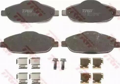 TRW GDB1761 - Piduriklotsi komplekt,ketaspidur multiparts.ee