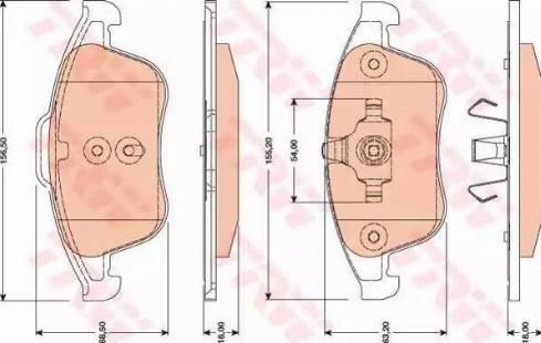 TRW GDB1788 - Piduriklotsi komplekt,ketaspidur multiparts.ee