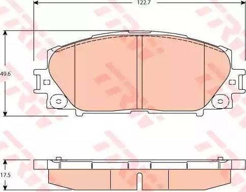 TRW GDB3459 - Piduriklotsi komplekt,ketaspidur multiparts.ee
