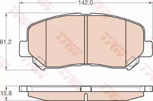 TRW GDB3562 - Piduriklotsi komplekt,ketaspidur multiparts.ee