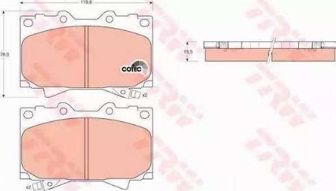TRW GDB3197 - Piduriklotsi komplekt,ketaspidur multiparts.ee