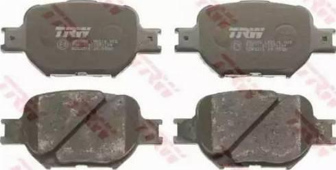 TRW GDB3316 - Piduriklotsi komplekt,ketaspidur multiparts.ee