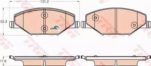 TRW GDB2027 - Piduriklotsi komplekt,ketaspidur multiparts.ee