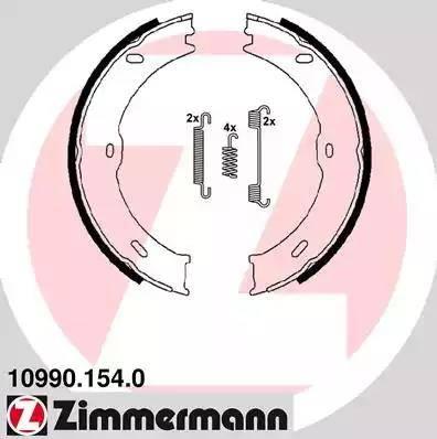 Zimmermann 10990.154.0 - Piduriklotside komplekt,seisupidur multiparts.ee
