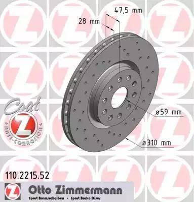 Zimmermann 110.2215.52 - Piduriketas multiparts.ee