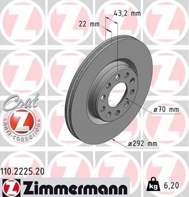 Zimmermann 110.2225.20 - Piduriketas multiparts.ee