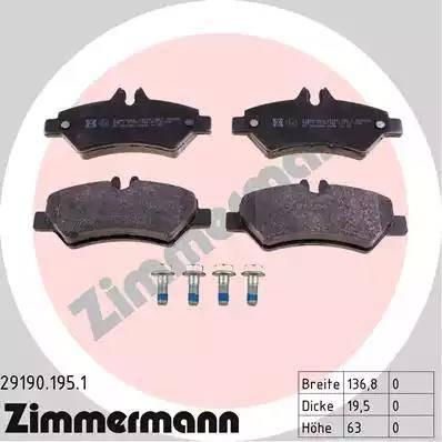 Zimmermann 29190.195.1 - Piduriklotsi komplekt,ketaspidur multiparts.ee