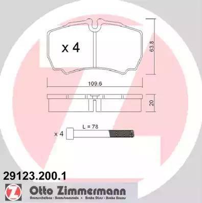 Zimmermann 29123.200.1 - Piduriklotsi komplekt,ketaspidur multiparts.ee