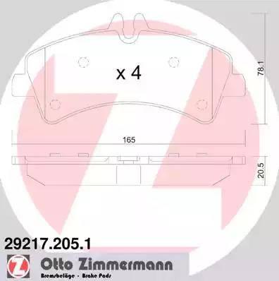 Zimmermann 29217.205.1 - Piduriklotsi komplekt,ketaspidur multiparts.ee