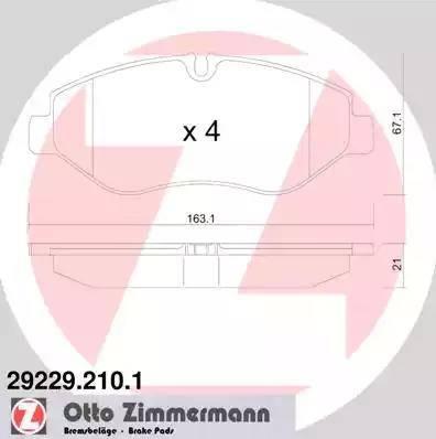 Zimmermann 29229.210.1 - Piduriklotsi komplekt,ketaspidur multiparts.ee