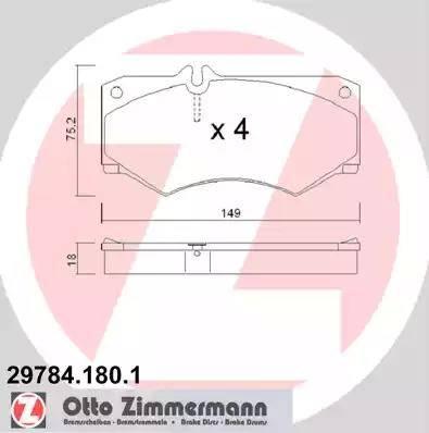 Zimmermann 29784.180.1 - Piduriklotsi komplekt,ketaspidur multiparts.ee