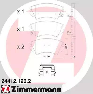 Zimmermann 24412.190.2 - Piduriklotsi komplekt,ketaspidur multiparts.ee