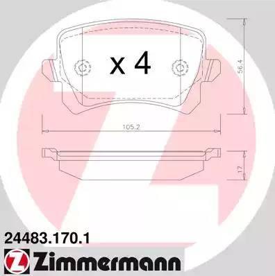 Zimmermann 24483.170.1 - Piduriklotsi komplekt,ketaspidur multiparts.ee