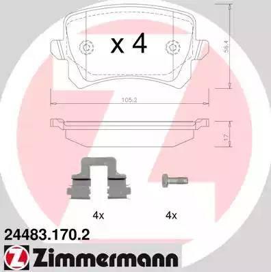 Zimmermann 24483.170.2 - Piduriklotsi komplekt,ketaspidur multiparts.ee
