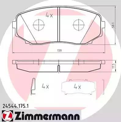 Zimmermann 24544.175.1 - Piduriklotsi komplekt,ketaspidur multiparts.ee