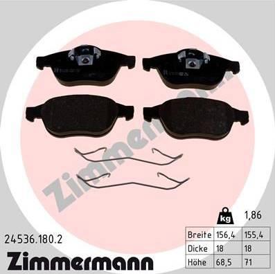 Zimmermann 24536.180.2 - Piduriklotsi komplekt,ketaspidur multiparts.ee