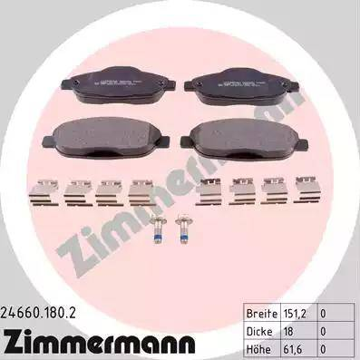 Zimmermann 24660.180.2 - Piduriklotsi komplekt,ketaspidur multiparts.ee