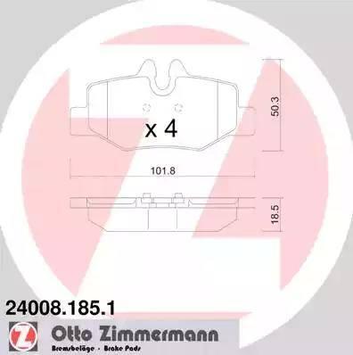 Zimmermann 24008.185.1 - Piduriklotsi komplekt,ketaspidur multiparts.ee