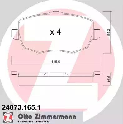 Zimmermann 24073.165.1 - Piduriklotsi komplekt,ketaspidur multiparts.ee