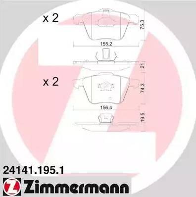Zimmermann 24141.195.1 - Piduriklotsi komplekt,ketaspidur multiparts.ee