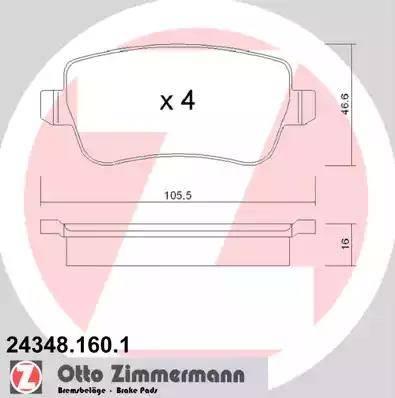 Zimmermann 24348.160.1 - Piduriklotsi komplekt,ketaspidur multiparts.ee