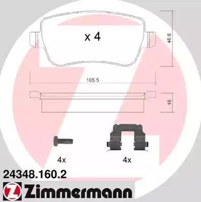 Zimmermann 24348.160.2 - Piduriklotsi komplekt,ketaspidur multiparts.ee