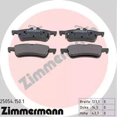 Zimmermann 25054.150.1 - Piduriklotsi komplekt,ketaspidur multiparts.ee