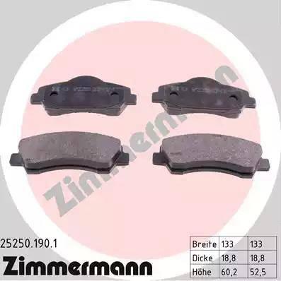 Zimmermann 25250.190.1 - Piduriklotsi komplekt,ketaspidur multiparts.ee