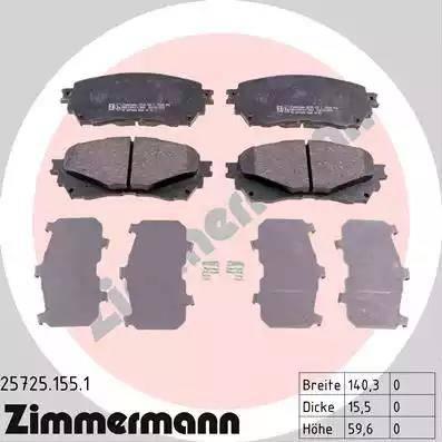 Zimmermann 25725.155.1 - Piduriklotsi komplekt,ketaspidur multiparts.ee