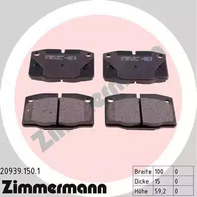 Zimmermann 20939.150.1 - Piduriklotsi komplekt,ketaspidur multiparts.ee