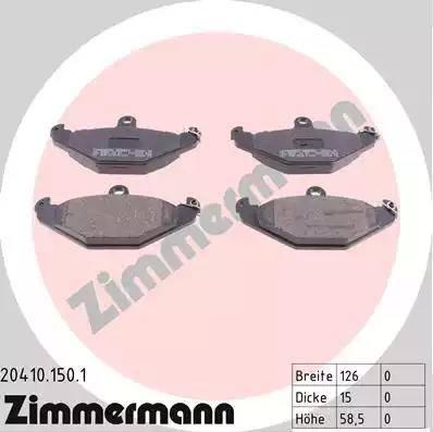 Zimmermann 20410.150.1 - Piduriklotsi komplekt,ketaspidur multiparts.ee