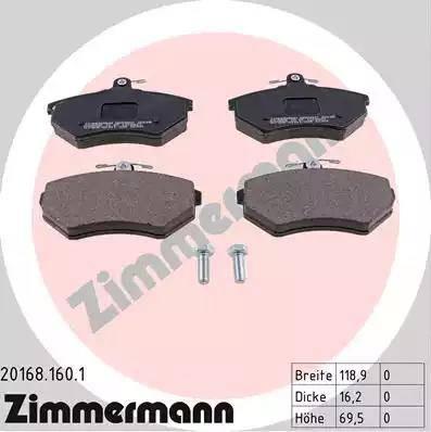 Zimmermann 20168.160.1 - Piduriklotsi komplekt,ketaspidur multiparts.ee