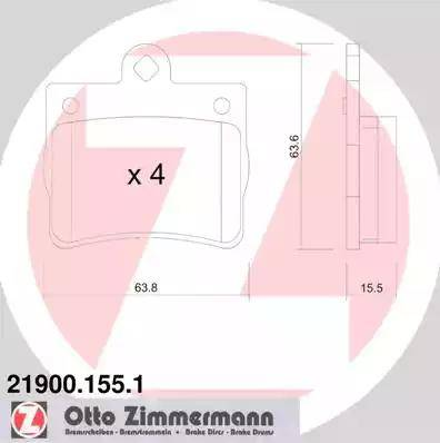 Zimmermann 21900.155.1 - Piduriklotsi komplekt,ketaspidur multiparts.ee