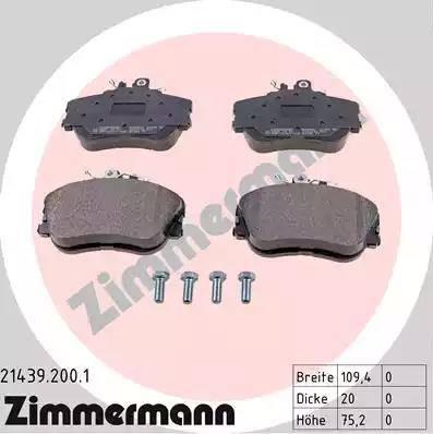 Zimmermann 21439.200.1 - Piduriklotsi komplekt,ketaspidur multiparts.ee
